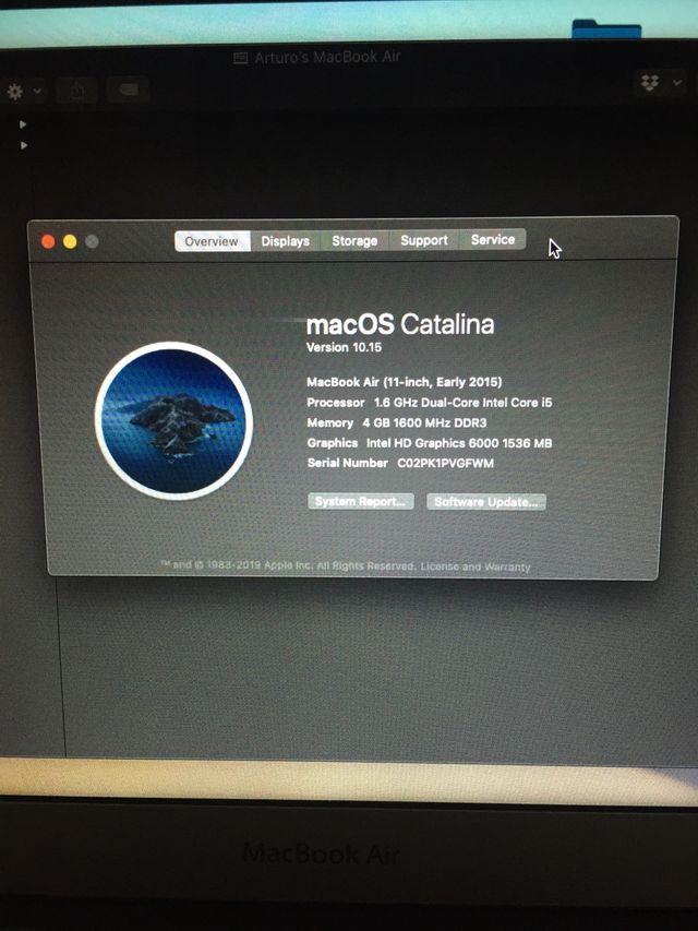 "Portátil MacBook Air 11"" 2015 Ordenador Apple"