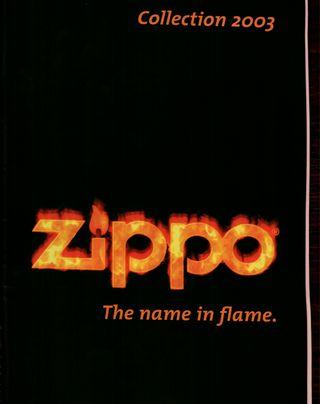 Catálogo Zippo 2003