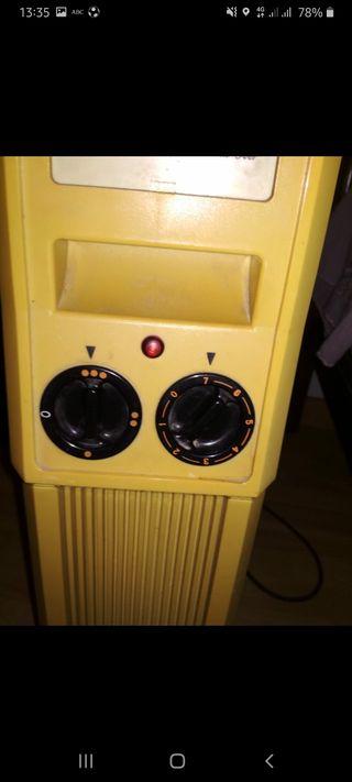 Calefactor de aceite por corriente.