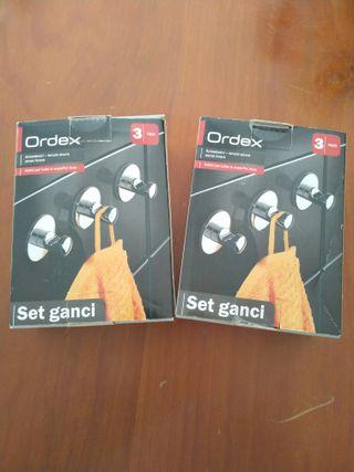 2 x Set de 3 Ganchos, adhesivos