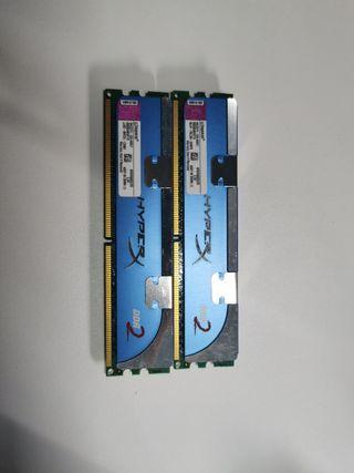 Memoria RAM Kingston DDR2 2GBx2