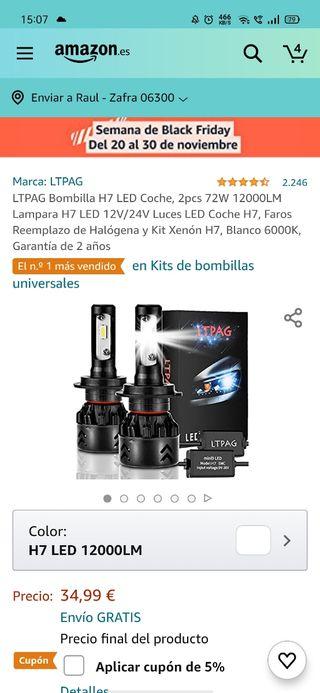 LUCES LED H7 Y H1