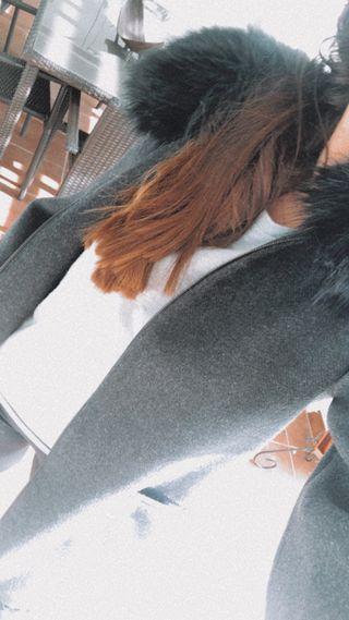 Abrigo paño lana Zara