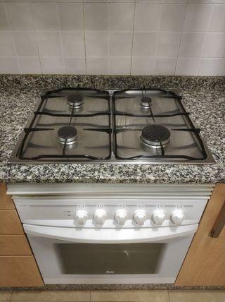 Horno y placa de cocina a gas