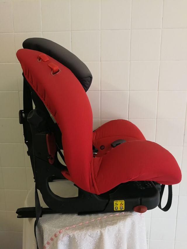 silla grupo 1 y 2 con isofix reclinable