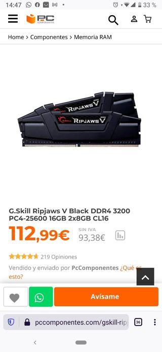 memoria RAM G.Skill DIMM 16GB DDR4-3200 Kit, Memor