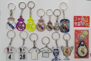Pack de 14 llaveros del Real Madrid (Nuevos)