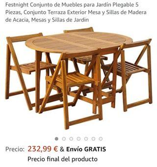 conjunto mesa exterior