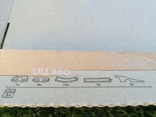 Circuito Tren de Madera con túnel y 4 Vagones.