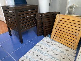 Pack asiento con almacenaje + 4 tarimas baño