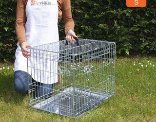 Jaula de transporte metalica para perros pequeños