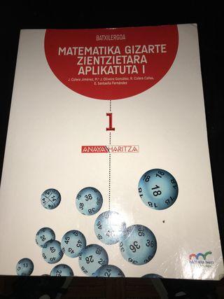 Libro de matemáticas aplicadas 1 de bachillerato
