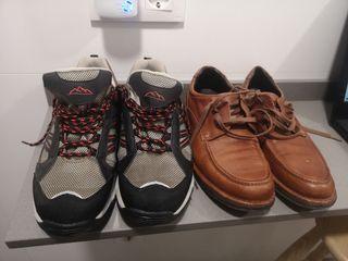 lote zapato piel y montaña t-42