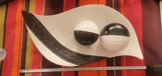 centro cerámica blanco y negro