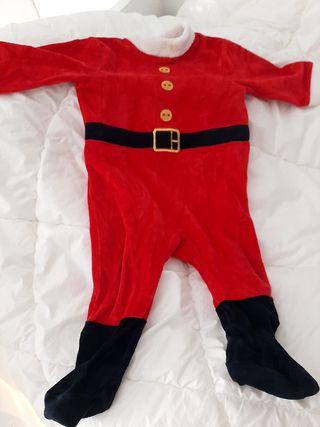 Pijama o disfraz de papa noel o elfo