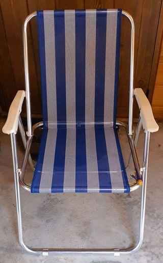 2 sillas para playa o jardin, plegables.