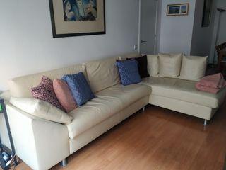 Sofá piel chaise longue