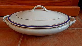 sopera porcelana antigua plato servicio cerámica