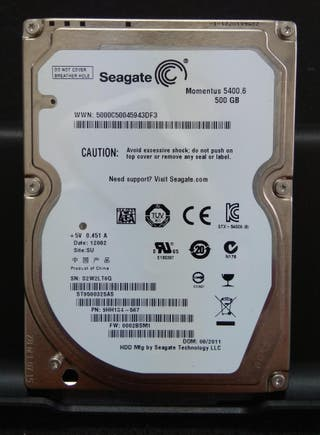 Disco duro Seagate 2,5 500Gb