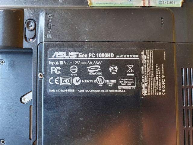 """Portátil Asus Eee PC 1000HD, 10"""""""