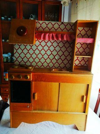 Cocinita Vintage de Madera