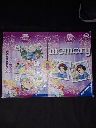 Puzzles y memory Princesas Disney