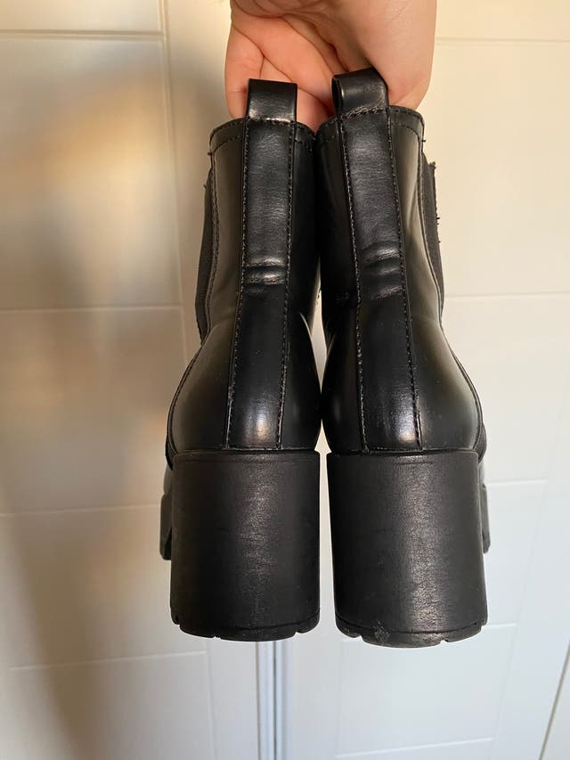 Botines tacón negros