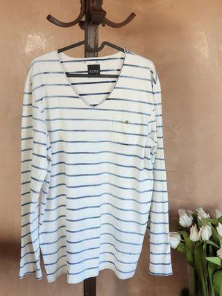 Camiseta fina Zara Rayas