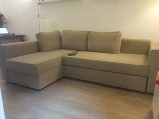 Sofá Ikea 3plazas con chaiselongue