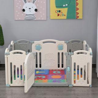 Parque Infantil Bebé con Puerta Corralito Plegable