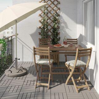 Mesa y 4 Sillas exterior jardín IKEA