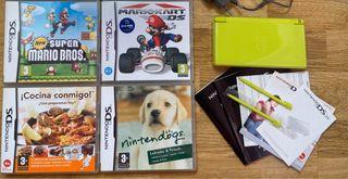 Lote Nintendo ds lite y juegos