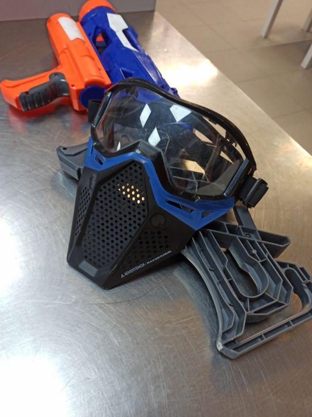 Pistola Nerf Thunderblast, Incluye Mascarilla