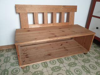Banco de madera ikea (almacenaje inferior)
