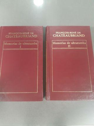 Libros Memorias de ultratumba I y II