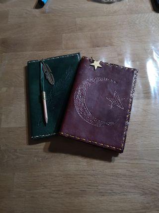agenda artesana de cuero