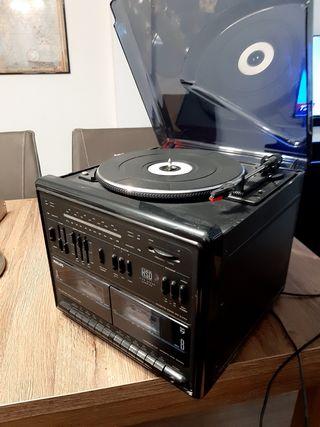 Tocadiscos+80 vinilos+cassettes