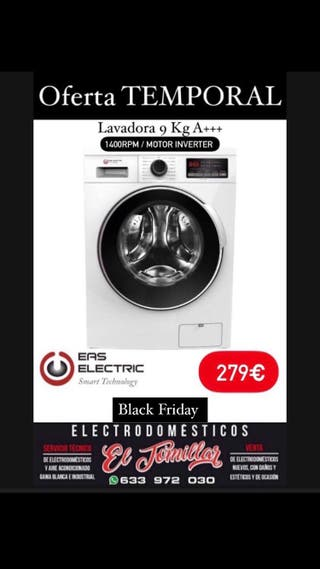 Lavadora Eas Electric 9 Kg INVERTER