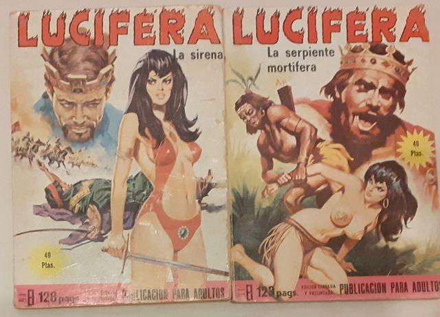Lucifera y Zara la vampira.Cómics para adultos.