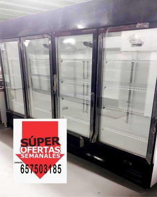 Armario expositor 4 puertas supermercado refrigera