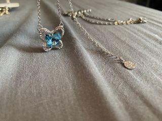 Sliver&blue butterfly necklace