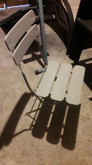 silla plegable aluminio
