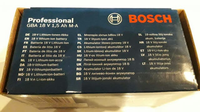 Batería 18v bosch GBA 1,5 Ah M-A