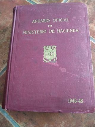 Anuario oficial del ministerio de hacienda