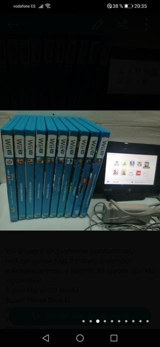 Wii U+10 juegos+3mandos+portal y 15 skylanders