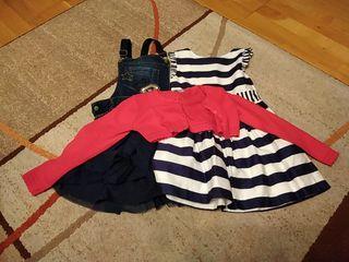 (Lote 7) vestidos y chaqueta 116cm