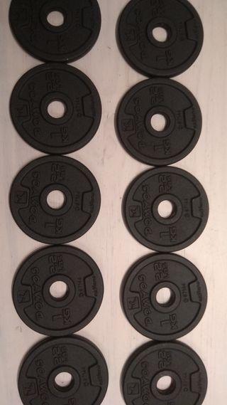 Discos Musculación Mancuernas/Pesas