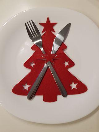 Decoración Navidad para cubiertos / Mesa Navideña