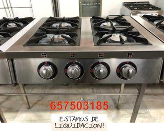 Cocina 4 fuegos con hornilla de mesa
