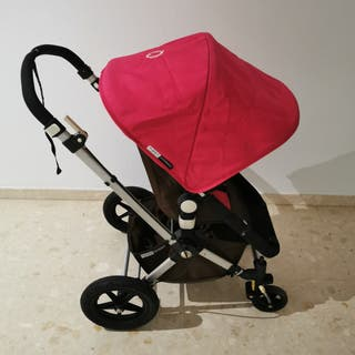 Carro bugaboo, rosa y chocolate.